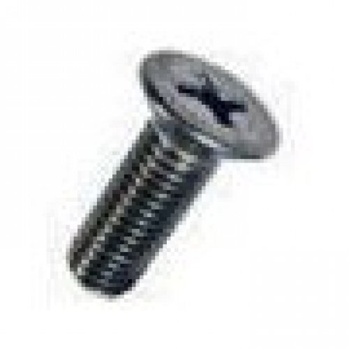 M2 x 4 Countersunk Cross Recessed Machine Screw, A2 stainless steel