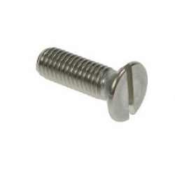 M3.5 x 12 Countersunk Slot Machine Screw, Din 963, A4 stainless steel (316)