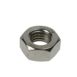 M2 Hexagon Full Nut, A2 stainless steel (304), Din 934