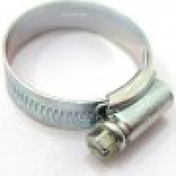 "Size 2 Jubilee Hose Clip (40-55mm / 1 5/8 - 2 1/8"" adjustment), steel zinc plated"