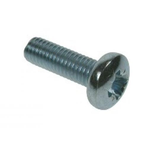 M2 x 4 Pan Head Pozi Drive Machine Screw, Steel Zinc plated, Din 7985