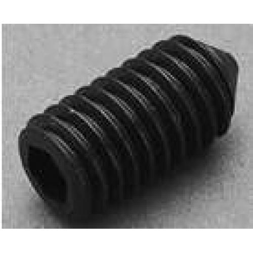 M4 x 6mm Socket Set screw (Cone Point), Din 914, steel self